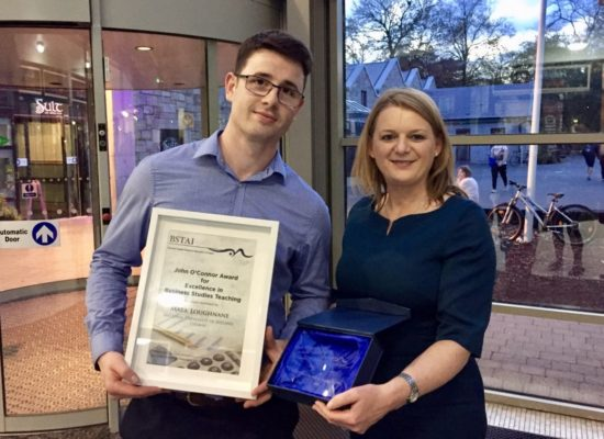 NUIG JOC Award 2018 Mark Loughnane