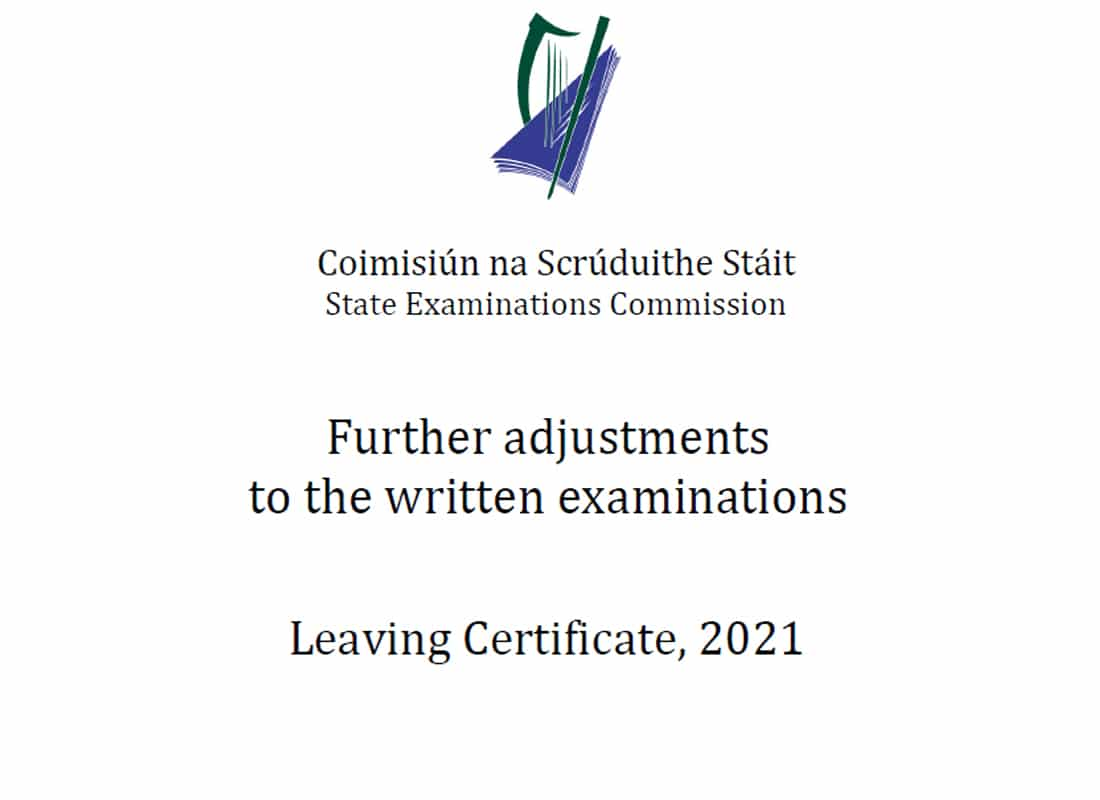 LC 2021: Adjustments to Written Exams